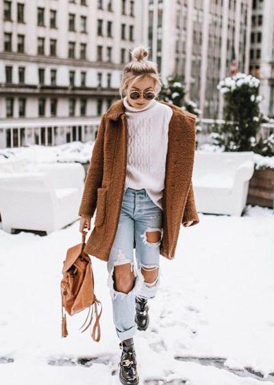 欧美达人街拍造型示范 一套衣服就能穿遍春秋冬三季
