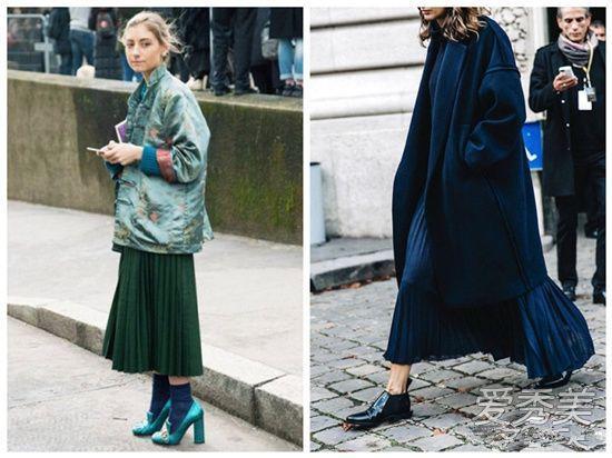 欧美服装流行趋势示范 冬季也要把裙子穿的美美的