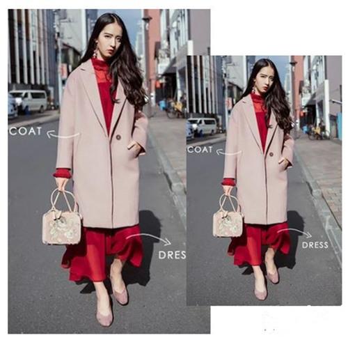 时尚达人服装流行趋势 大衣+裙子气质高级又养眼