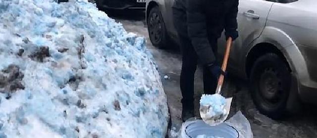 俄罗斯下蓝色大雪 专家称系钴蓝或亚甲基蓝引起