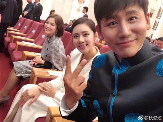 秋瓷炫出席中韩国宾晚宴 爆料宋慧乔聊宋仲基的谈话内容