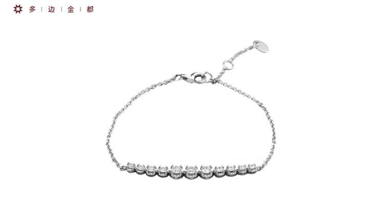 多边金都18K金(K白)爱的国度钻石手链手串_珠宝图片