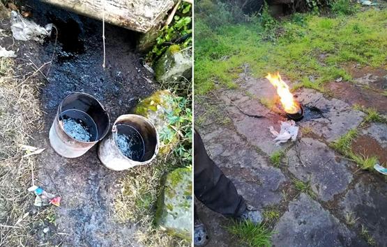 日前,达州市渠县文崇镇下湾村的几户村民打水井,钻出黑色液体。