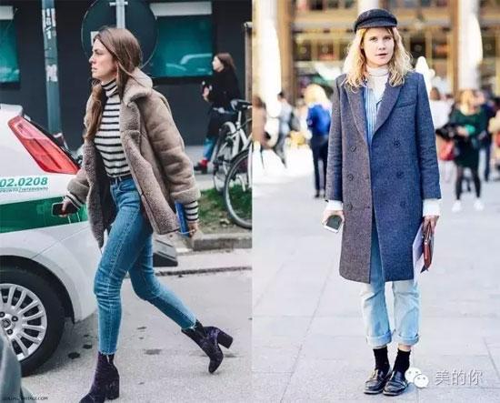 高领毛衣+大衣秋冬绝配 保暖性极强能随意搭出休闲帅气的风格