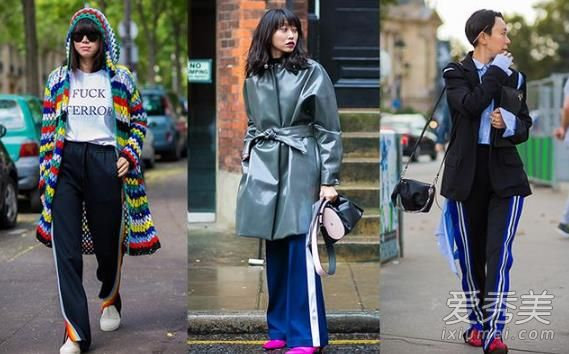 欧美潮人带边的条纹校服裤穿搭示范 时髦养眼显活力