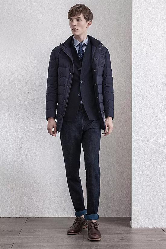 Satchi(沙驰)品牌男装 轻巧叠穿轻盈舒适