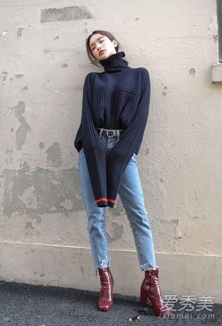 高领毛衣的3种穿法 冬日时髦显瘦告别臃肿感