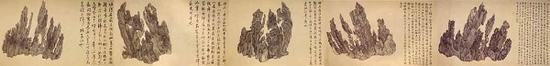 吴彬《十面灵璧图》在洛杉矶州立博物馆展出