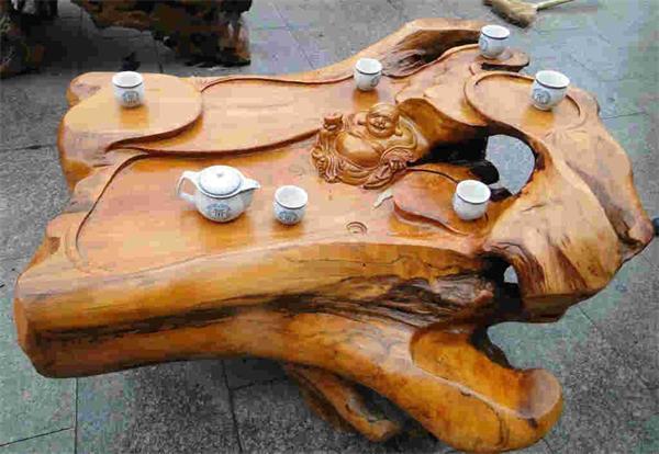 根雕茶几 根艺创作过程 根雕茶几图片大全 日常保养方法 木质图鉴 金投