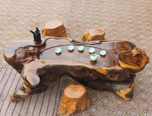 根雕茶几_根艺创作过程_根雕茶几图片大全_根雕茶几日常保养方法