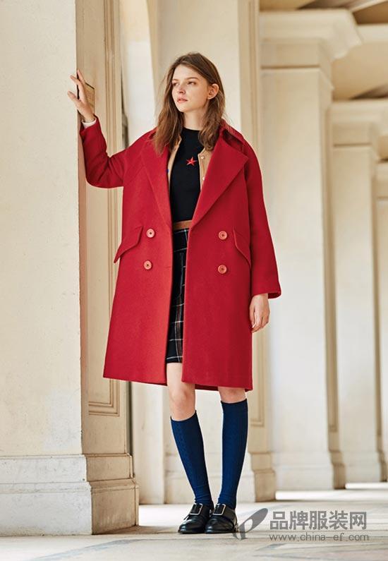 布莎卡品牌女装 保暖的呢大衣穿出时尚范