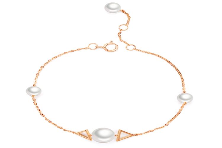 周大生珍珠手链 新品18K金珍珠手链_珠宝图片