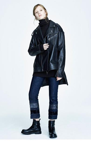 高领毛衣的正确搭配示范 可以搭配大衣夹克妥妥的混搭风