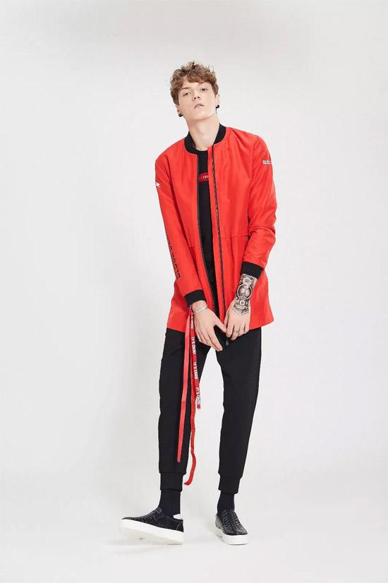 ZENL(佐纳利)男装品牌 火红色单品炫目夺眼