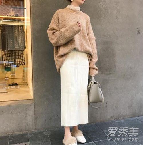 冬季人手一件的毛线裙 3个技巧矮个也能穿出大长腿