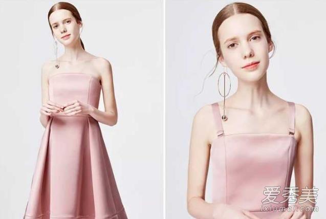 公司年会穿衣搭配示范 一款设计感很足的简单连衣裙就够了