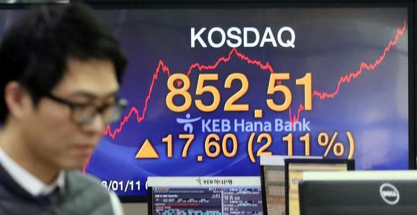 韩国创业板市场柯斯达克跳涨3%后暂停交易