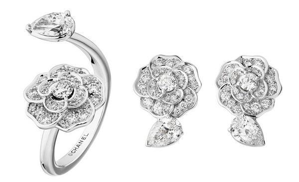 香奈儿最新山茶花Bouton de Camélia珠宝系列 非对称设计显生机