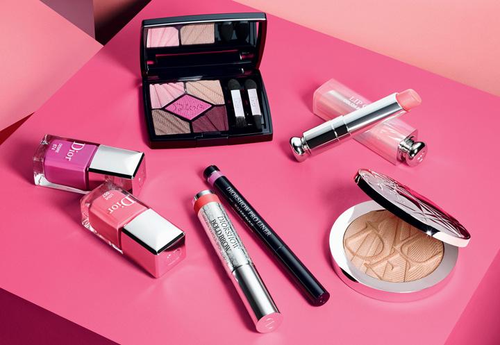 迪奥推出2018春日彩妆系列 以Glow Addict妆容大胆探索粉色的无限潜力