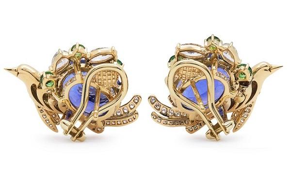 Tiffany 高级珠宝系列耳钉 彩色宝石色彩艳丽 浪漫非凡