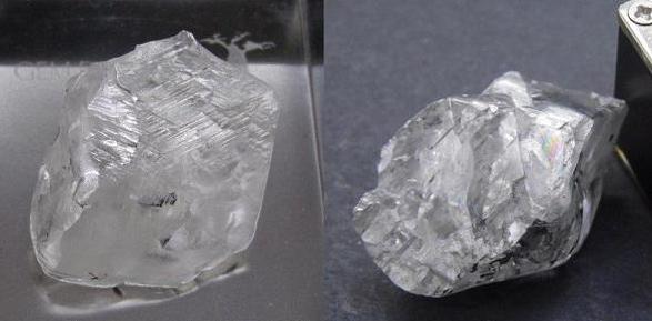 非洲南部etšeng 钻石矿发现2颗超过100ct的宝石级钻石原石