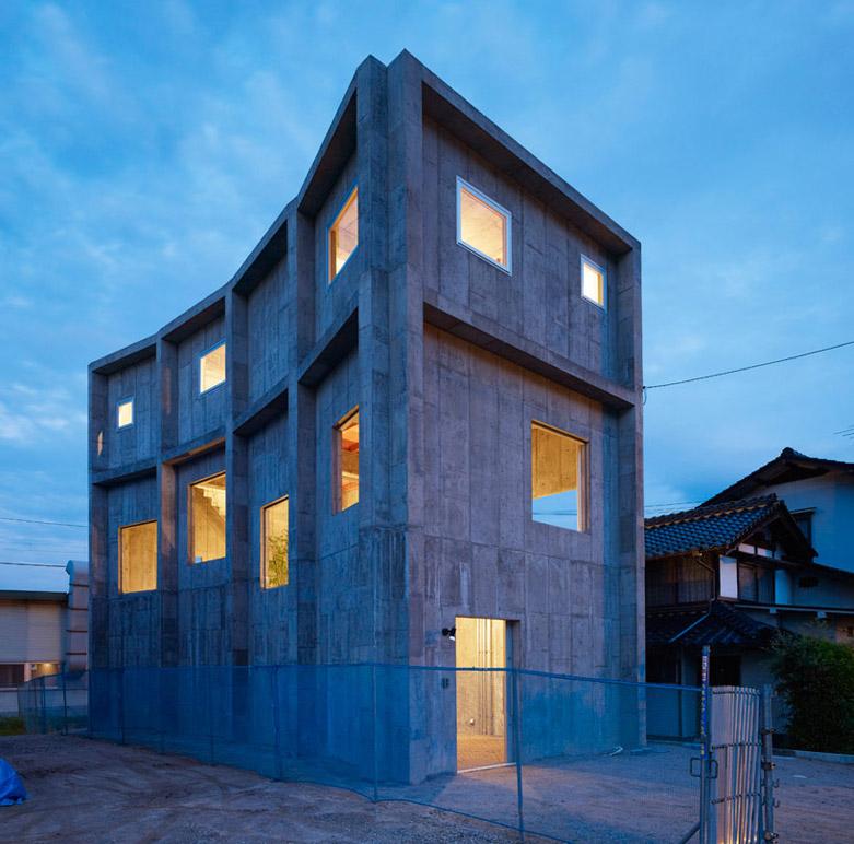 日本八木之家豪宅:一座全混凝土结构的建筑
