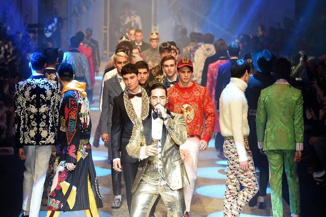 Dolce&Gabbana2018秋冬男装大秀在米兰举行 纪凌尘宋威龙秀大长腿