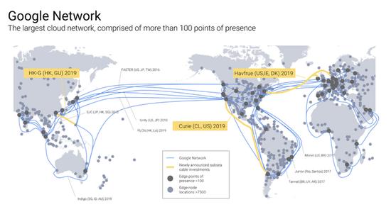 助云计算业务发展 谷歌宣布明年新建三条海底光缆