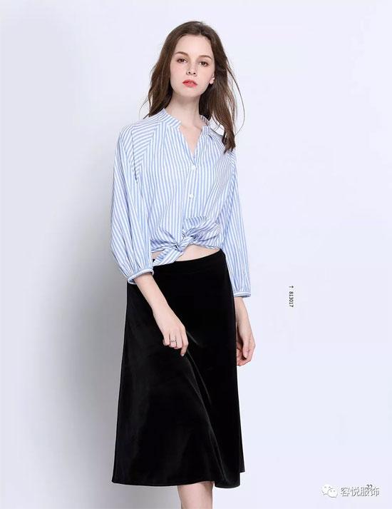 容悦の美2018春装新品第二波条纹系列上新