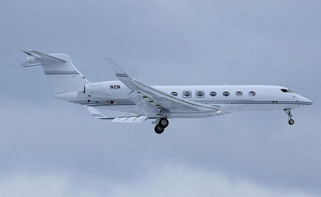 刘强东私人飞机价高达4亿元 G650最大航程距离接近12964千米