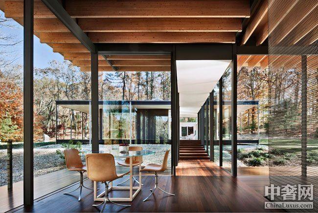 玻璃木屋:美国康涅狄格州的旧居改建项目
