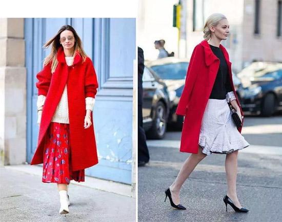 EDISA春装上市 采用黑色小花与红色毛呢的红黑时尚搭配
