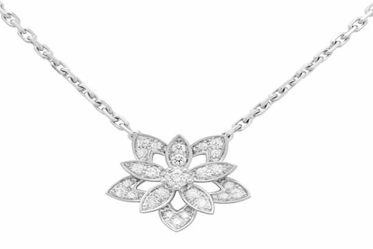 梵克雅宝Souffle de Diamants冬季系列白金首饰_珠宝图片