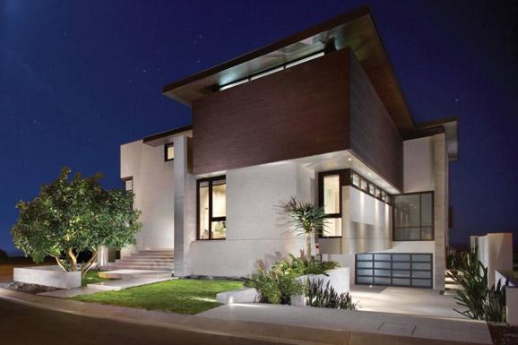 加利福尼亚休闲摩登的海湾豪宅 封闭式设计保护了业主的隐私