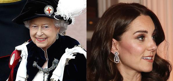 凯特王妃多次借英女王的古董珠宝珍珠首饰