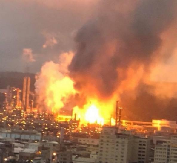 台湾炼油厂发生爆炸 初步了解并无伤亡
