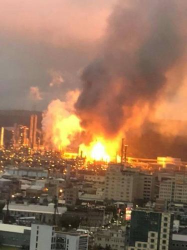 台湾炼油厂爆炸 没有造成人员伤亡