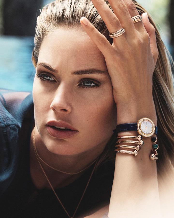 超模Doutzen Kroes身着耀眼的伯爵珠宝与腕表 美丽动人且充满女性魅力