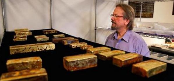 沉船宝藏将在美展出 总价逾5000万美元