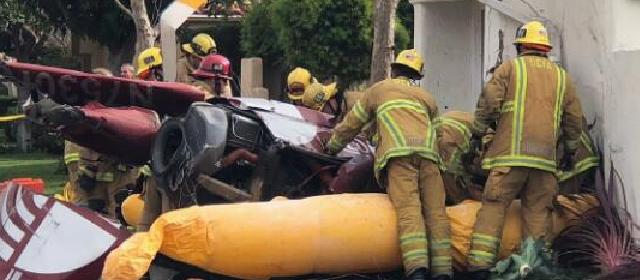 美直升机坠毁砸民房 3人死亡2人受伤