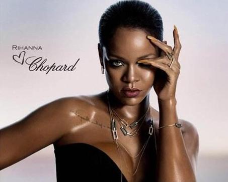 蕾哈娜联手萧邦珠宝推出了RIHANNA LOVES CHOPARD系列
