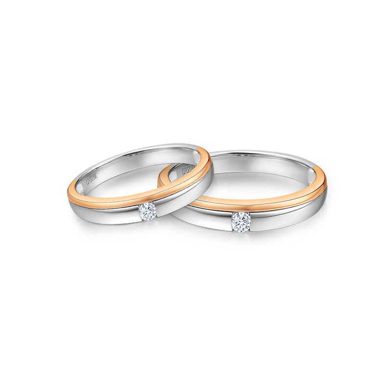 DARRY RING珠宝YOU & ME系列可转动浪漫情侣对戒_珠宝图片