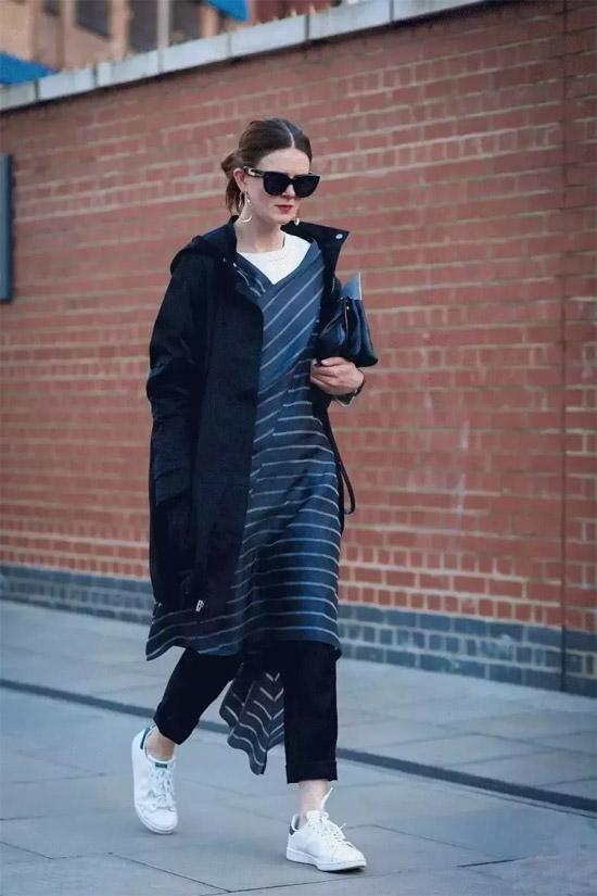 裙子和裤子叠穿 演绎出很多种风格