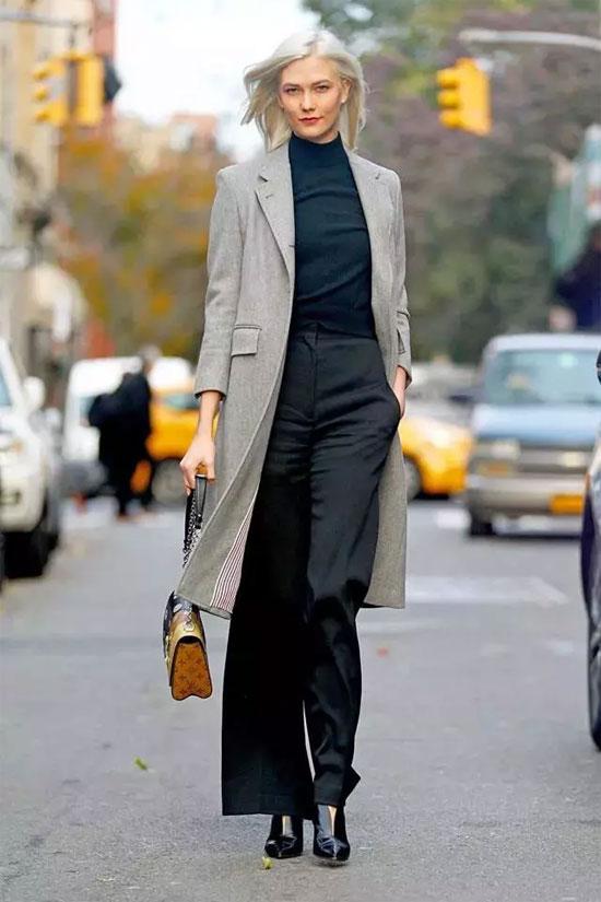 冬季要保暖更要有气质 翻领外套+高领衫搭配更显气质