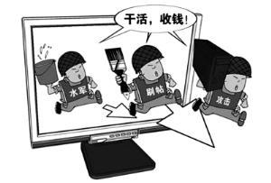 网络水军:给钱什么都发 敏感内容价格翻倍