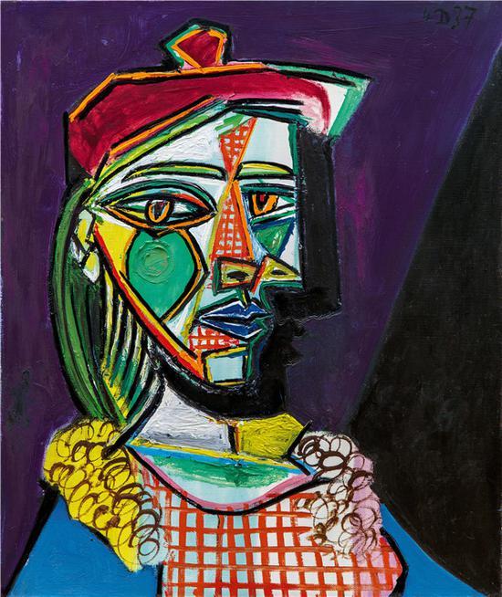 毕加索绘画风格多变 爱情也是多变的