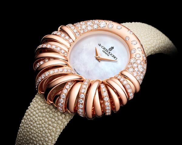 ALLEGRA 25系列全新珠宝表匠心独运 金光钻光流溢无比悦目