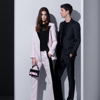 超模Luna Biji与Nicolas Ripoll共同演绎Karl Lagerfeld 2018春夏系列广告大片
