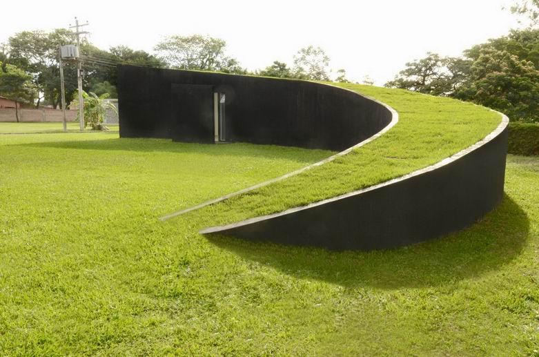 铜钱式住宅:与天空融为一体激发人们创意
