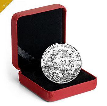 """加拿大皇家铸币厂推出""""龙运""""纯银币 每枚零售价29.95元"""